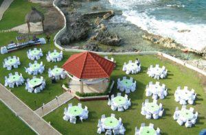 contoh gambar dekorasi pernikahan outdoor (garden party